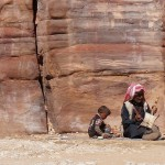Bedouin and child
