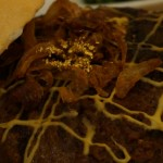 Camel Burger with 24 carat gold flakes