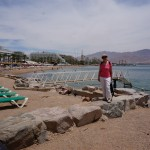 Holly on the Bay of Aqaba in Eilat
