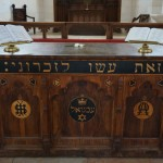 Olive Wood Altar Inscribed with Hebrew