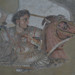 Famous Mosaic of Alexander the Great in battle with Persian King Darius