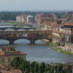 Beautiful Florence and the Medieval Bridge over the Arno River