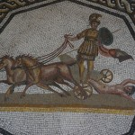 Mosaic of a Roman execution
